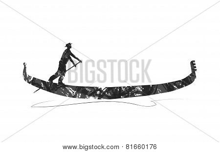 abstract gondola silhouette