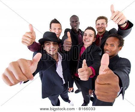 Trendy Group Of Sucessful Businessmen