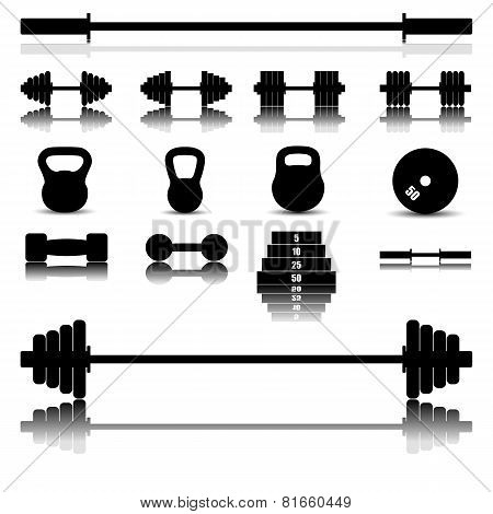 Sports Equipment, Vector Illustration.