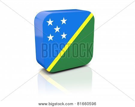 Square Icon With Flag Of Solomon Islands