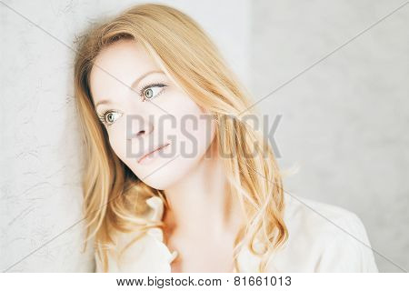 Soft Calm Blond Girl
