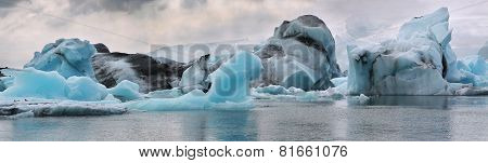 Iceberg in the glacier lagoon. Iceland.