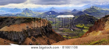 Mountain landscape in Iceland