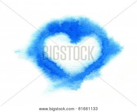 Cloud Heart. Watercolor Illustration