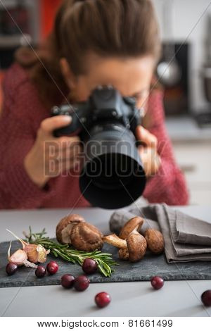 Closeup On Female Food Photographer Taking Photo