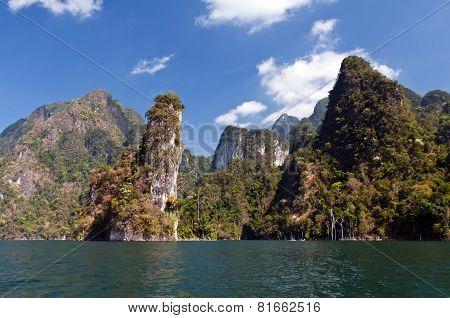 Cheow Lan Lake Or Rajjaprabha Dam Reservoir, Thailand