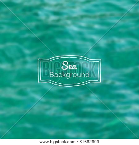 Vector blurred nature sea blue background