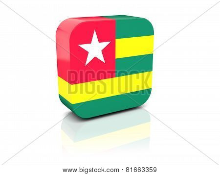 Square Icon With Flag Of Togo
