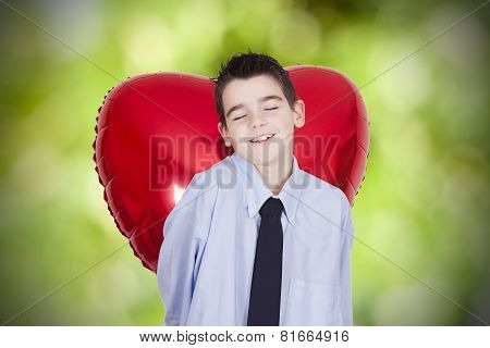 child with heart