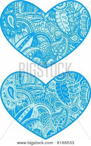 paisley heart illustration