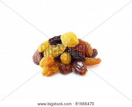 Mix Dried Fruits Isolated On White Background