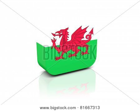 Square Icon With Flag Of Wales
