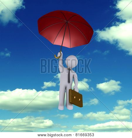 Businessman Falling From The Sky