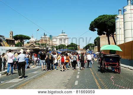 Rome City Life. View Of Rome City On June 1, 2014
