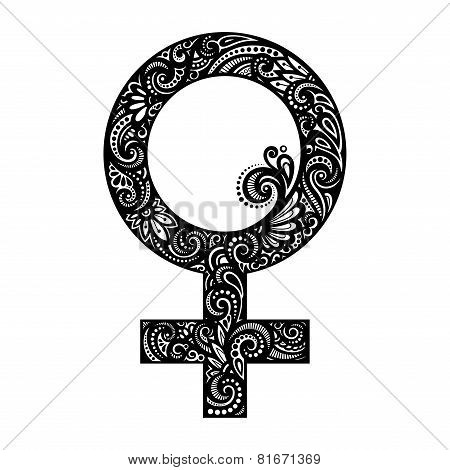 Vector Female Gender Symbol