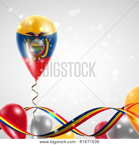 Flag of Ecuador on balloon