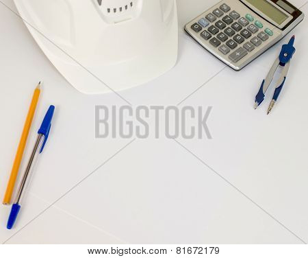 Business concept with work and office business items