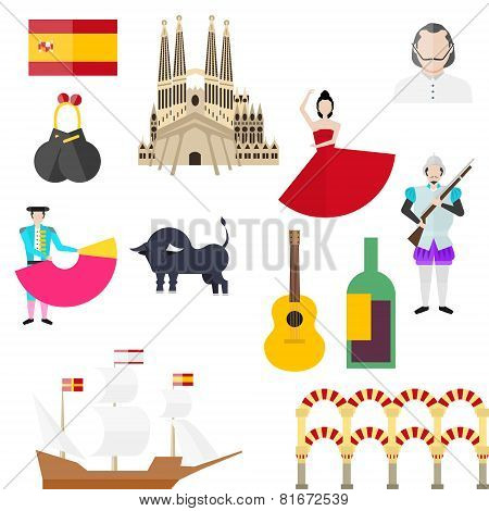 Spanish Symbols, Signs And Landmarks