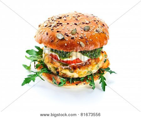 Burger Isolated On  White