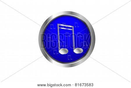 Blue web music button