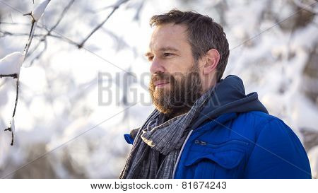 Pensive Bearded Man 2