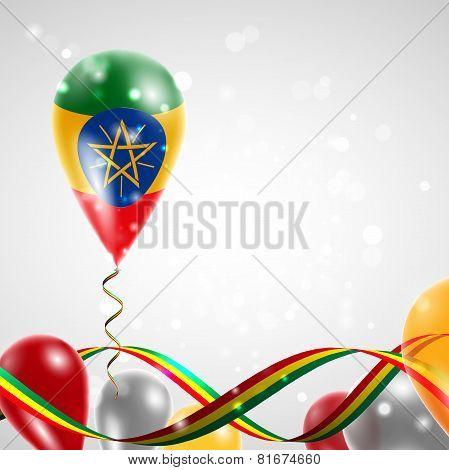 Flag of Ethiopia on balloon