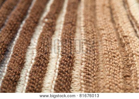 Macro Knitting Background