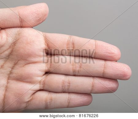 Wrinkled Skin Of The Hands