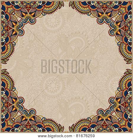 beige colour floral vintage frame
