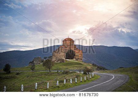 Jvari monastery church Georgia religion landscape