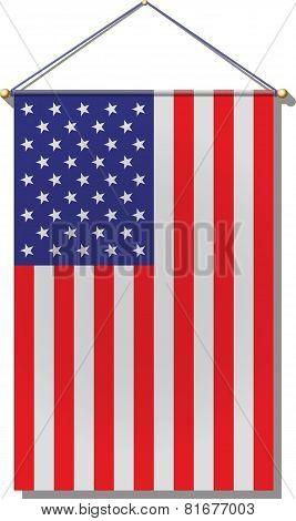 Hanging U. S. Flag