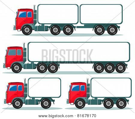 Heavy truck with space for text