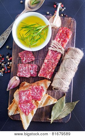 salami and aroma spice