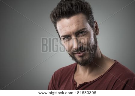 Smiling Flirty Guy Portrait