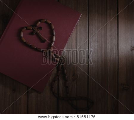 Wooden Cross And Holy Bible