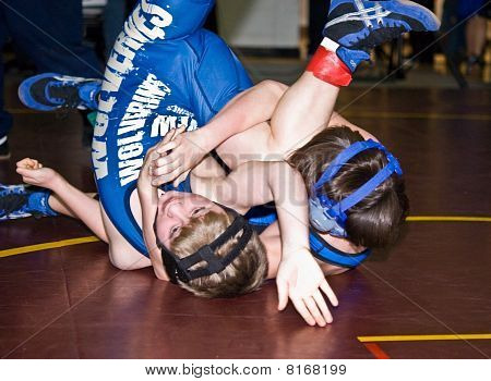 Young Boys Wrestling