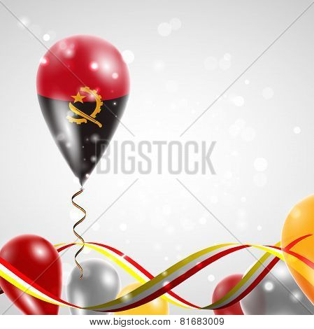 flag of Angola on balloon