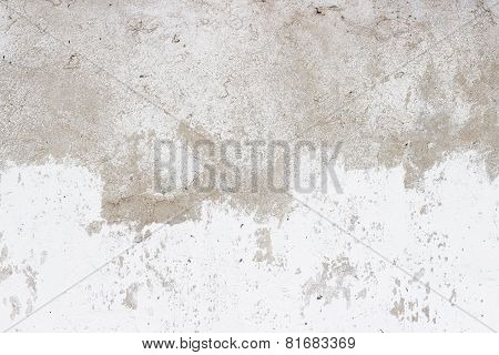 Old Stucco White Wall Background Or Texture