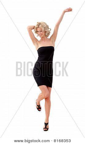 Mujer en un vestido de Cóctel