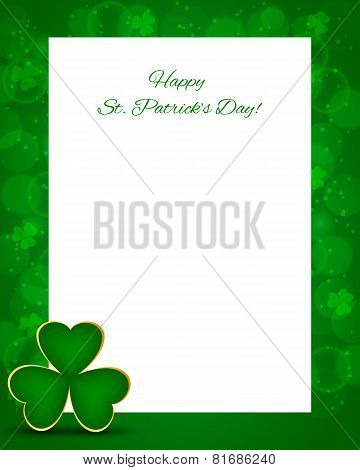 St Patrick's Day Background With Card