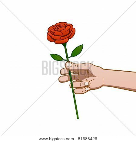 giving a rose