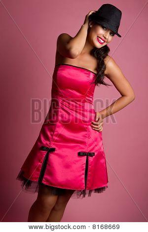 Woman Wearing Pink