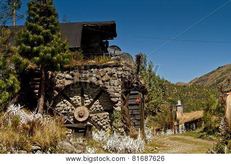 Dos Chorreras landmark in Azuay cuenca Ecuador