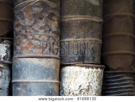 Rusty Oil Barrels