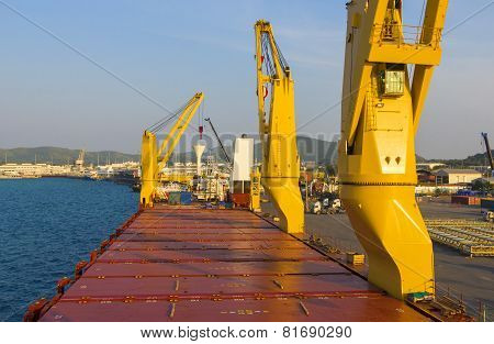 Industry Ship With In Loading Port