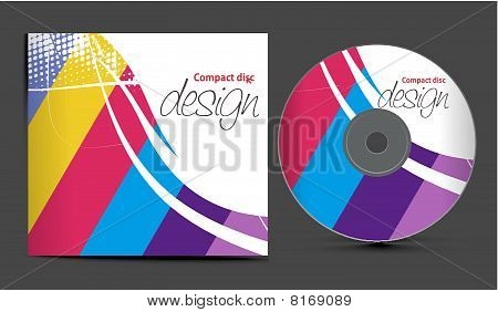 Vector Cd Cover Design Template Vector & Photo | Bigstock