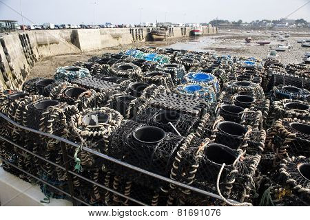 fish traps on the boat