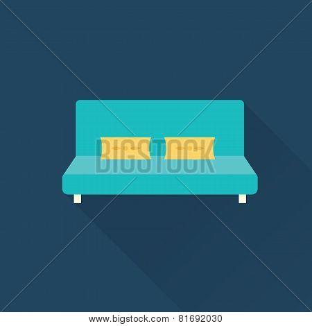 Vector sofa icon