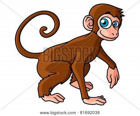Cartoon brown monkey character
