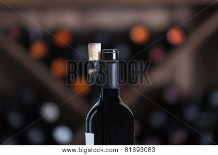 Red Wine Bottle Opened